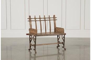 Iron Cart Bench