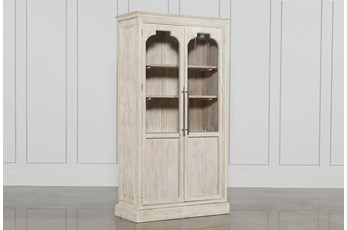 White Wash 2-Door Tall Cabinet