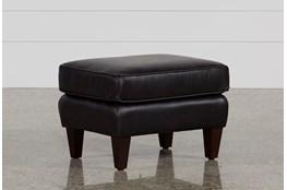 Madison Espresso Leather Ottoman