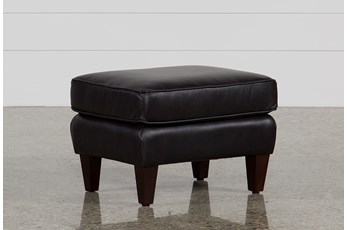 Madison Espresso Leather Ottoman