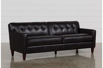 Madison Espresso Leather Sofa