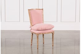 Dining Chair W/Pink Loose Seat