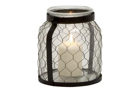 9 Inch Metal Glass Lantern