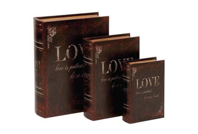 3 Piece Set Love Book Boxes - 360