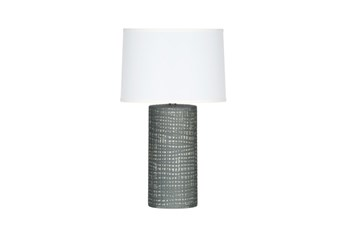 Table Lamp-Grey Striations