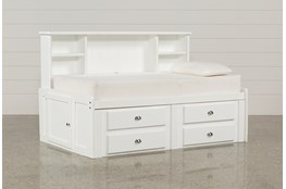 Summit White Twin Roomsaver Bed With 4-Drawer Storage Unit