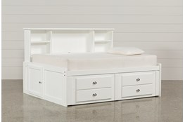 Summit White Full Roomsaver Bed With 2-Drawer Captains Trundle