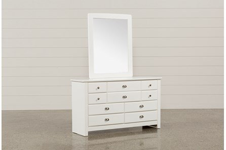 Summit White Dresser/Mirror