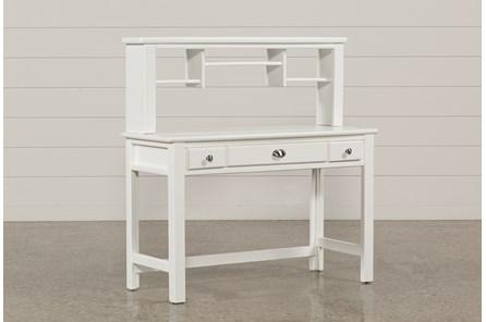 Summit White Desk/Hutch