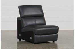 Kristen Slate Grey Leather Armless Chair