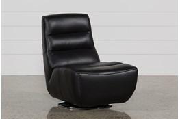 Kiki Black Leather Swivel Chair