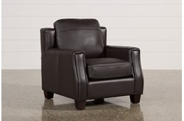 Bartle Brown Leather Chair
