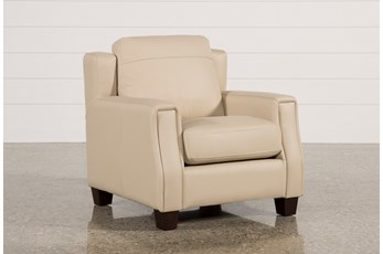 Bartle Taupe Leather Chair