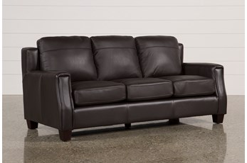 Bartle Brown Leather Sofa