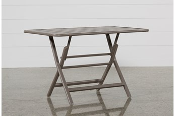 Outdoor Carnivale Taupe Folding Table