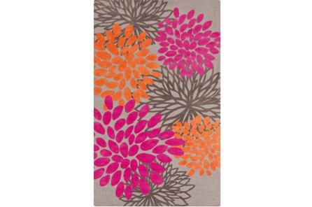 39X63 Rug-Pink And Orange Blooms