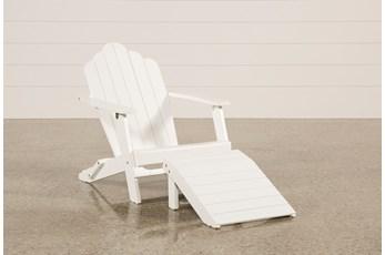 Outdoor Santiago White Lounge Chair/Ottoman