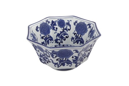 Blue & White Floral Bowl