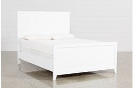 Bayside White California King Panel Bed