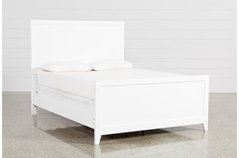 Bayside White Eastern King Panel Bed