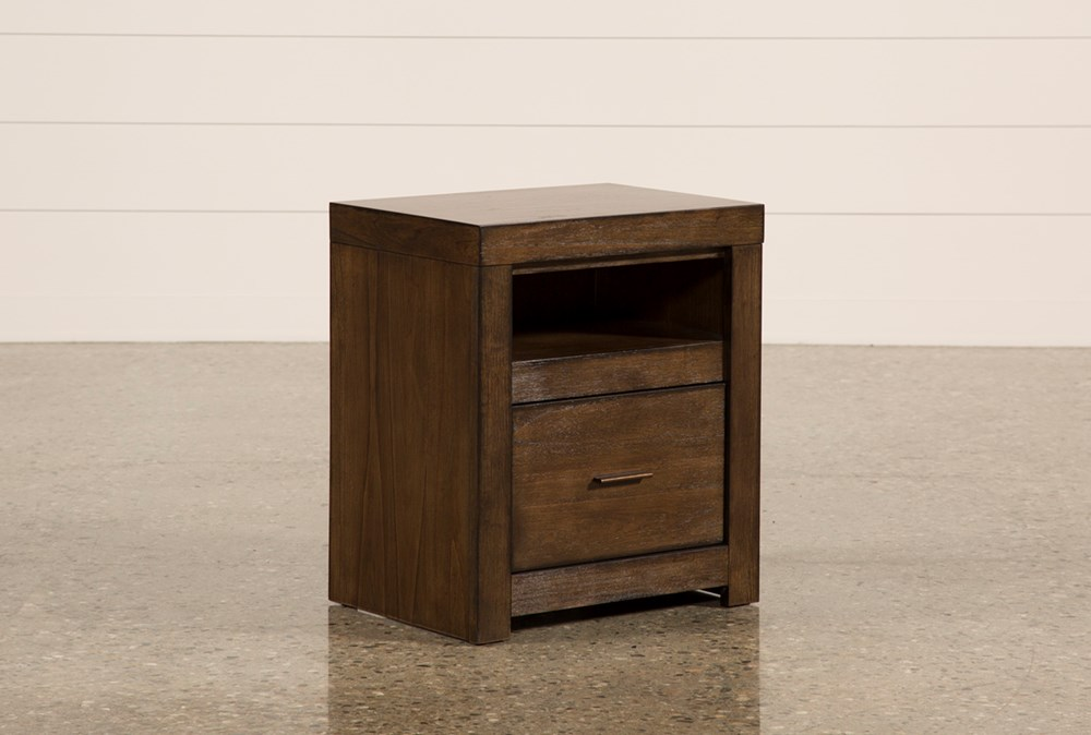 Riley Brownstone 1-Drawer Nightstand