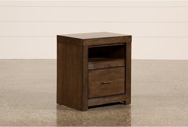 Riley Brownstone 1-Drawer Nightstand - 360