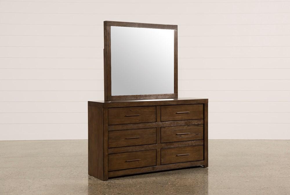Riley Brownstone Dresser/Mirror