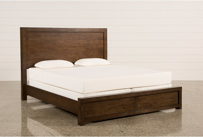Riley Brownstone Queen Panel Bed - 360