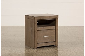 "Riley Greystone 1-Drawer 25"" Nightstand"