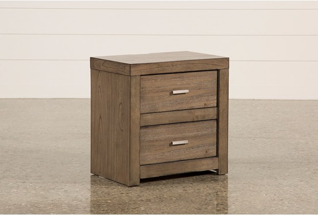 Riley Greystone 2-Drawer Nightstand - 360
