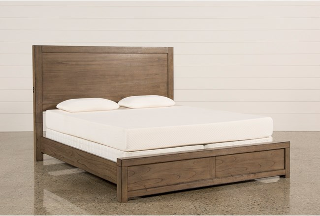 Riley Greystone Eastern King Panel Bed With USB - 360