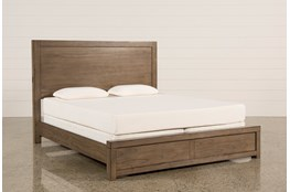 Riley Greystone Queen Panel Bed With USB