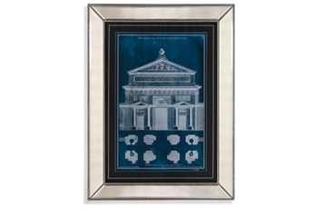 Picture-Mirror Framed Blue Facade I