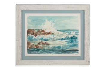 Picture-Whitewash Framed Waves I