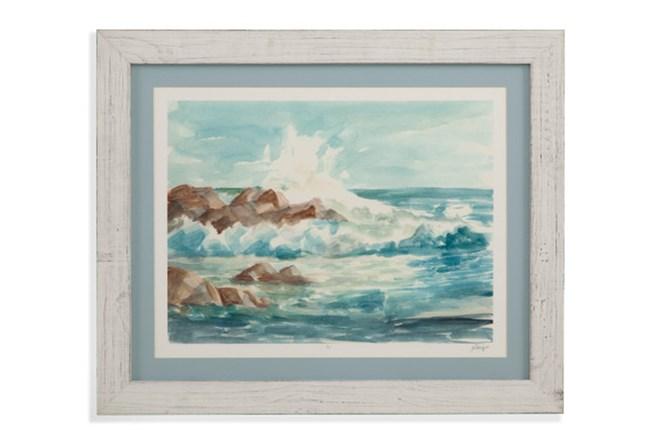 Picture-Whitewash Framed Waves I - 360