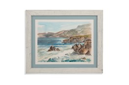 Picture-Whitewash Framed Waves II
