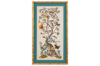 Picture-Bamboo Framed Chinoserie I