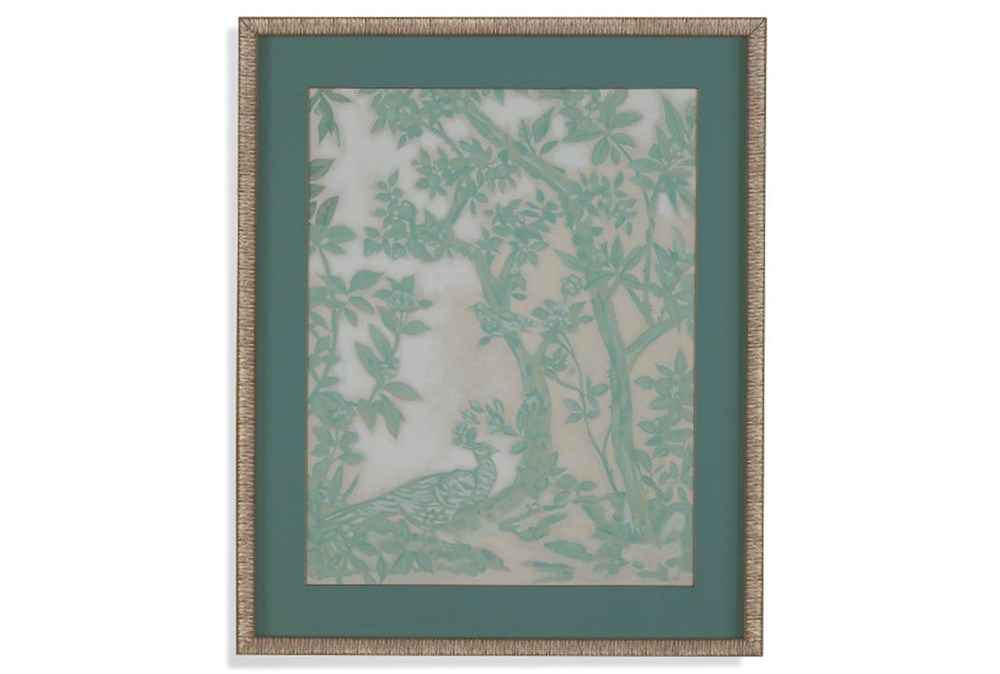 Picture-Green Chinoserie I