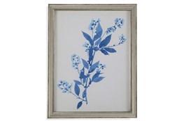 Picture-Pressed Leaf Blue I