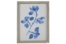 Picture-Pressed Leaf Blue II