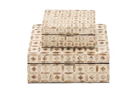 2 Piece Set Wood Mop Inlay Boxes