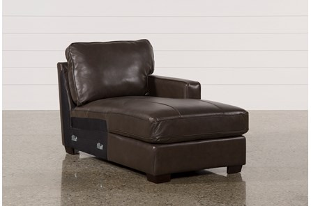 Redford Coffee Leather Right Facing Chaise