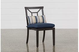 Outdoor Martinique Navy Dining Chair