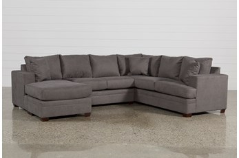 "Kerri Charcoal 2 Piece 126"" Sectional With Left Arm Facing Chaise"