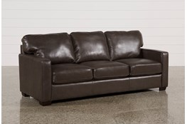Redford Coffee Leather Sofa