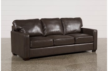 Redford Coffee Leather Sofa