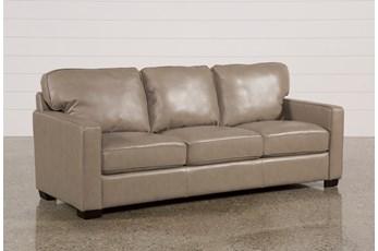 Redford Mushroom Leather Sofa