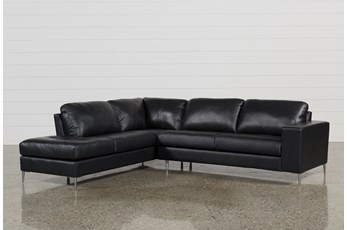 Micah Anthracite 2 Piece Sectional W/Laf Chaise