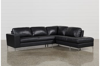 Micah Anthracite 2 Piece Sectional W/Raf Chaise