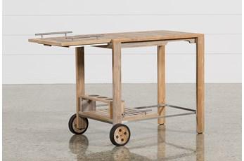 Outdoor Antigua Teak Bar Cart